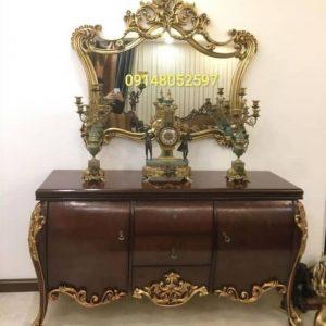 آینه کنسول مدل گلبرگ