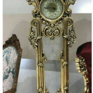ساعت چوبی ایستاده طرح ساده